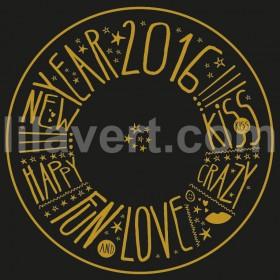 "Sticker shop vitrine de magasin ""happy new year 2016"" vector stock"