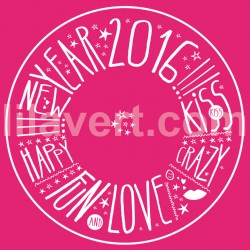 Sticker window Happy New Year 2016 – vector stock