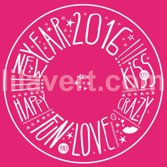 "Sticker vitrine magasin ""happy new year 2016"" vector stock"
