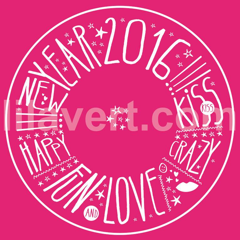 "Sticker vitrine magasin ""happy new year 2016"" vector stock"