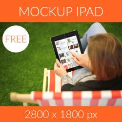 Free mockup ipad