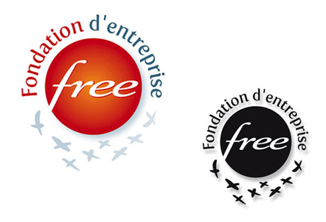 Creation logo Fondation d'entreprise Free