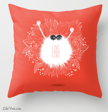 Live, Laugh, LOVE … coussin