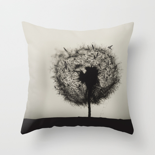 deco coussin - Dandelion with birds ©LilaVert