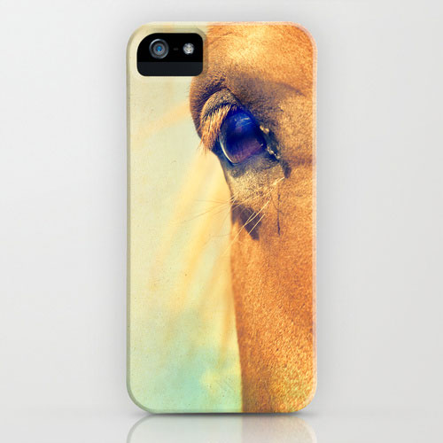Photo cheval, oeil iphone skin - lilavert /