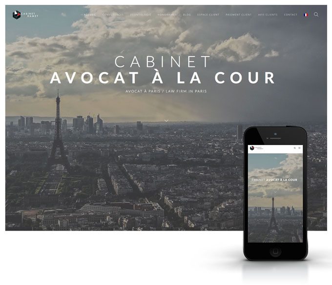 Webdesign Hamet avocat - Paris